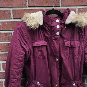 YMI maroon coat